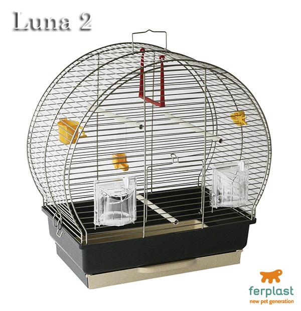 イタリアferplast社製 小鳥用鳥かご ルナ 2 アンティークブラス〜Luna 2 AntiqueBrass〜