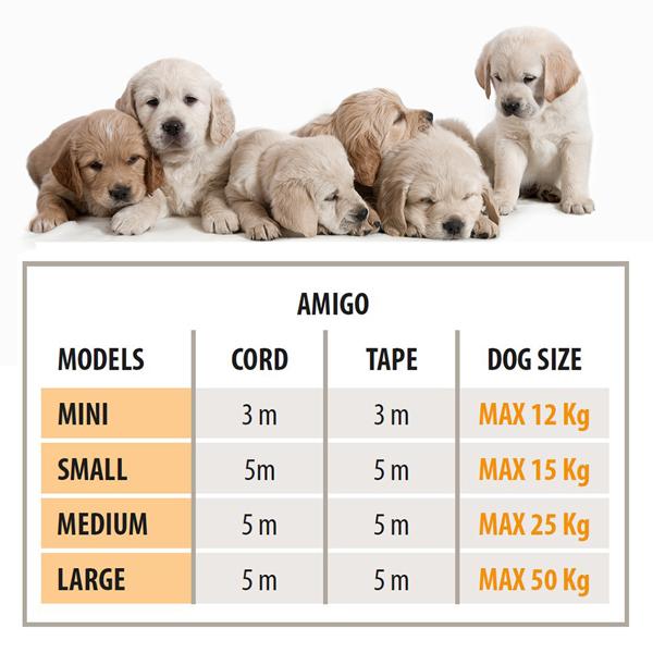 イタリアferplast社製 アミーゴ AMIGO EASY MINI  テープ 犬 りーど 伸縮 リード 3m さんぽグッズ