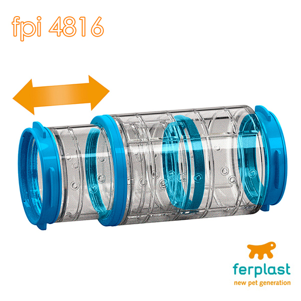 イタリアferplast社製 FPI 4816 伸縮チューブ ケージ ハウス 専用 連結パーツ ハムスター 小動物