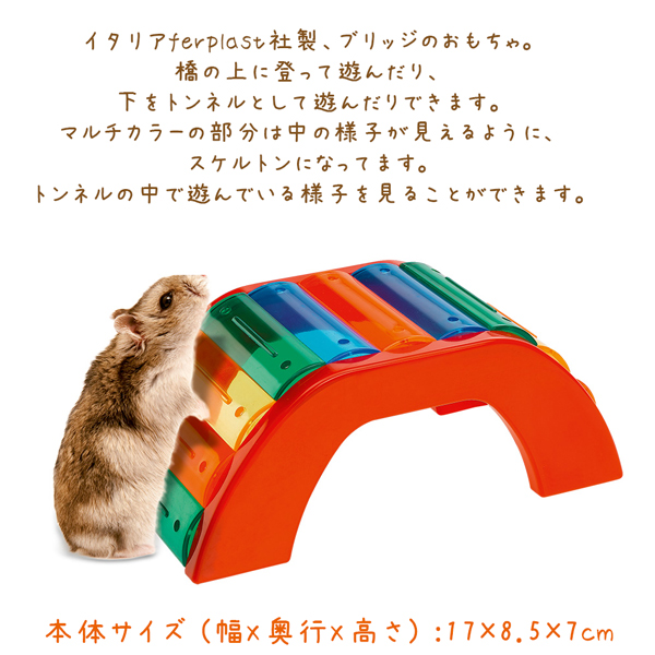 【WEBショップ限定】イタリアferplast社製 PA 4640ブリッジ BRIDGE 小動物 おもちゃ ハムスター