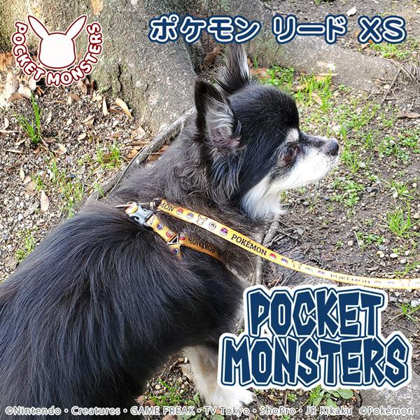 ポケモン リード XS イエロー 犬 猫用 りーど リード さんぽグッズ 散歩用品 お出かけ お散歩グッズ お出かけ