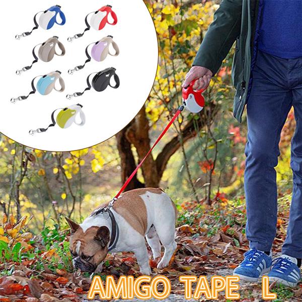 イタリアferplast社製 アミーゴ テープ L AMIGO TAPE 犬 りーど 伸縮 リード 5m さんぽグッズ
