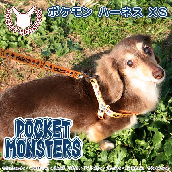 ポケモン ハーネス XS イエロー 犬 猫用 さんぽグッズ 散歩用品 お出かけ お散歩グッズ お出かけ