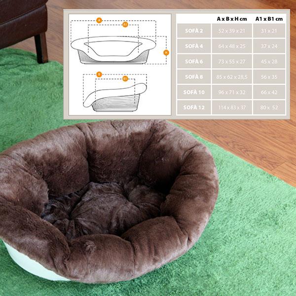 【通販限定】イタリアferplast社製 犬用プラスチックベッド シエスタDX6専用クッションカバー ソファ クッション 6 ソフト〜sofa 6 soft