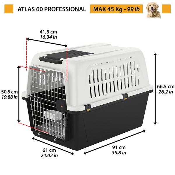 イタリアferplast社製 アトラス 60 atlas 60 大型犬用 キャリー ペットキャリー 犬 ゲージ 飛行機IATA航空輸送基準をクリア