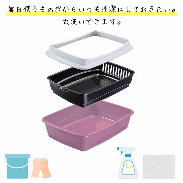 猫用快適 イタリアferplast社製 ARIEL 10 PLUS アリエル 10 プラス キャットトイレ 猫 トイレ カバー付き