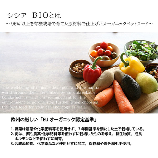 成猫用 総合栄養食 穀物不使用キャットフード 無添加・無着色 シシアキャット グレインフリー バイオ オーガニック「ポーク」85g