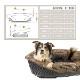 イタリアferplast社製 犬用プラスチックベッド シエスタDX10専用クッションカバー ソファー クッション シティーズ クッション 10