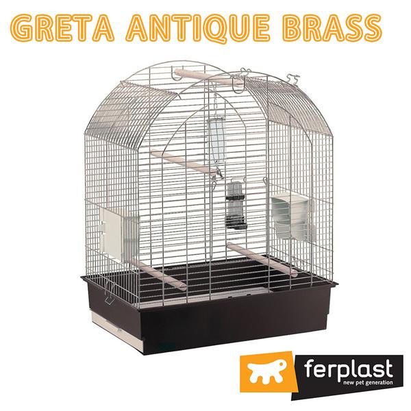 イタリアferplast社製 大型鳥用鳥かご グレタ ゴールド