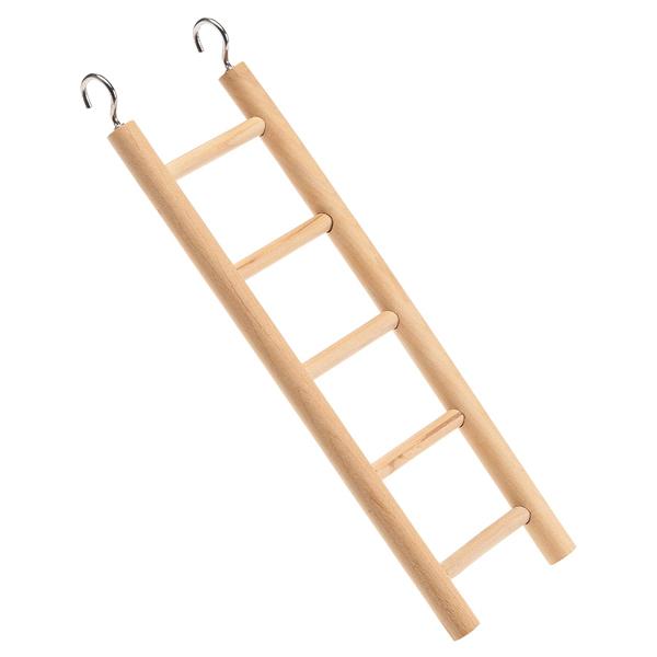 イタリアferplast社製 小鳥用 木製 5段式 ハシゴ はしご PA 4002 おもちゃ バードトイ 止まり木 階段 簡単取り付け 吊り下げ式