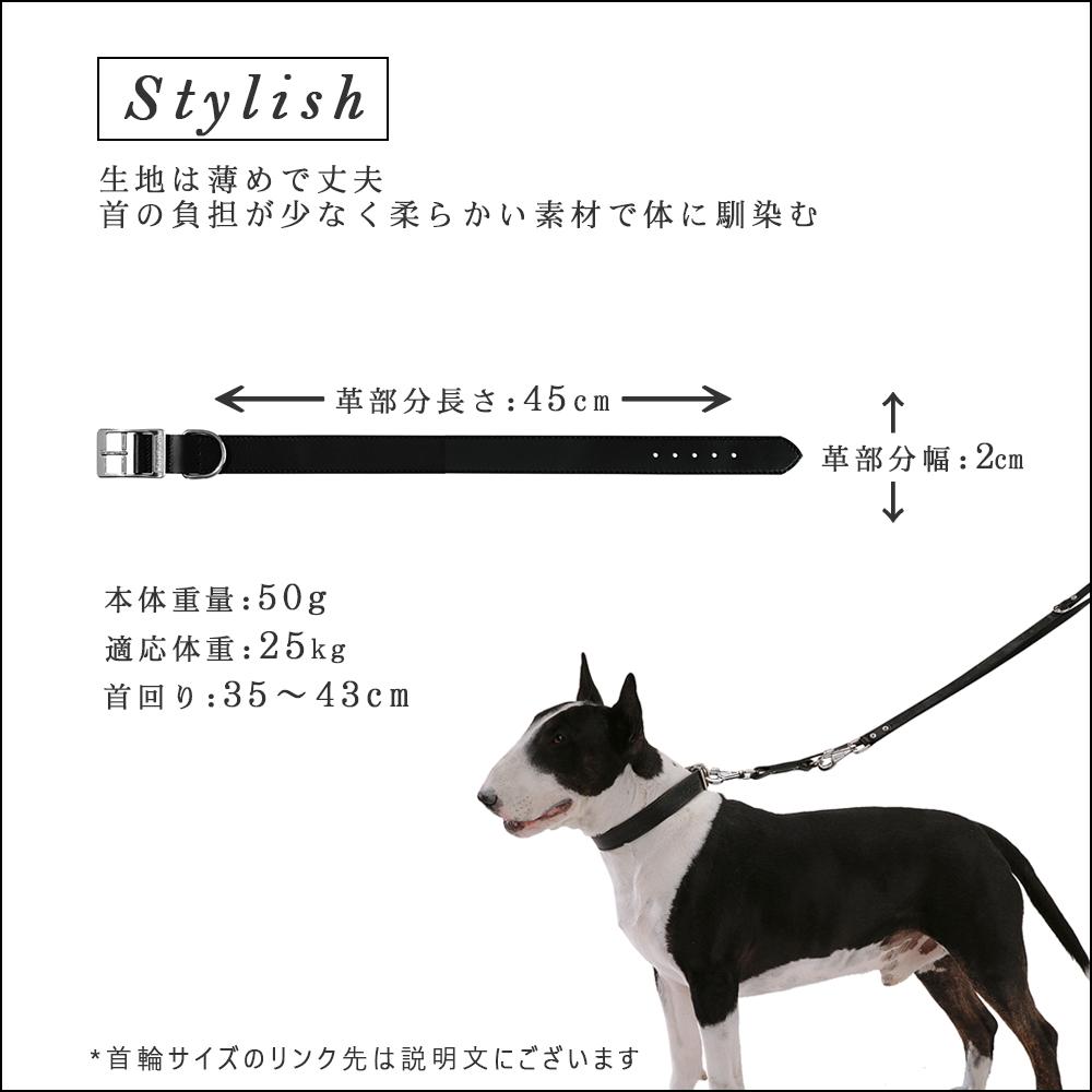 イタリアferplast社製 革 犬具 C20/43 ナチュラル 犬用 首輪 首回り35から43cm クビワ 犬 くびわ