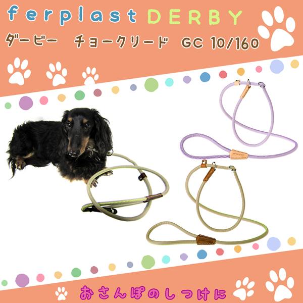 イタリアferplast社製 ダービー DERBY ハーフチョーク リード GC10/160 グリーン 犬 しつけ りーど リード さんぽグッズ 散歩用品 お出かけ お散歩グッズ  送料無料