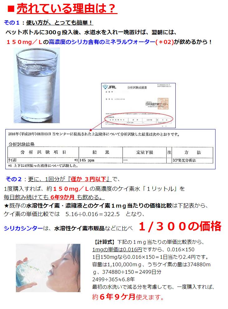 01:シリカシンター(ケイ素溶出焼石) 水溶性ケイ素の約1/300の安さ 150mg/Lの高濃度のケイ素水を1リットル分が⇒僅か3円以下の格安で すぐに作れて飲める ケイ素溶出セラミック《★説明書は画像の商品袋に在中!》
