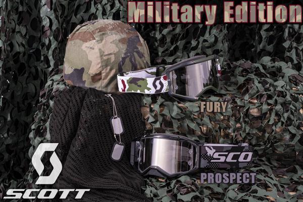 Scott ゴーグル MX用 特別限定版 Fury 2021年 最新モデル Military Edition 51-2983