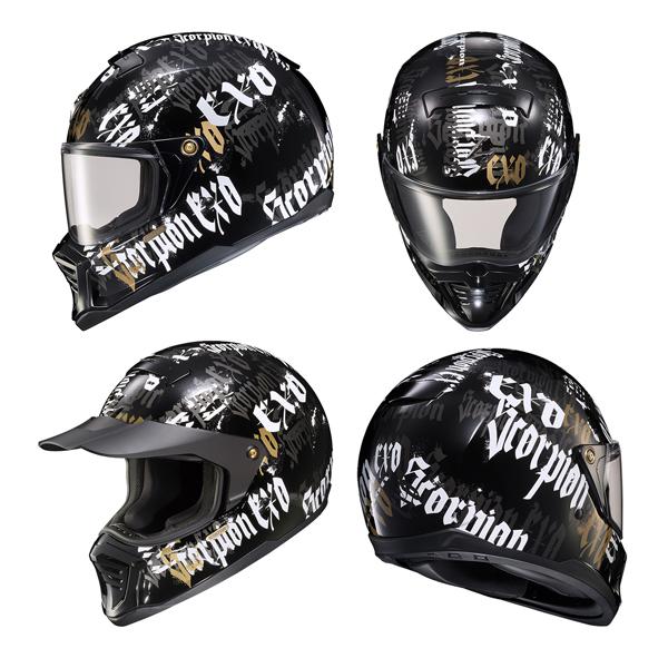 Scorpion EXO ヘルメット EXO-HX1 2021年 最新モデル Blackletter