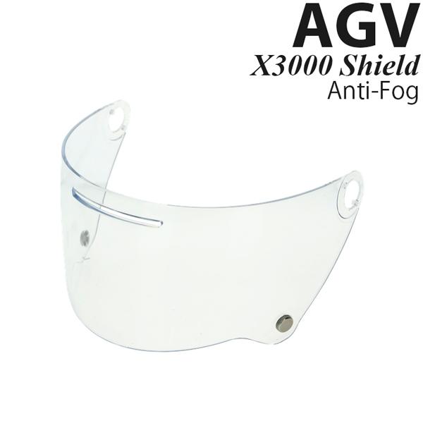 AGV X3000 ヘルメット用 シールド X3000 Shield Anti-Fog Clear