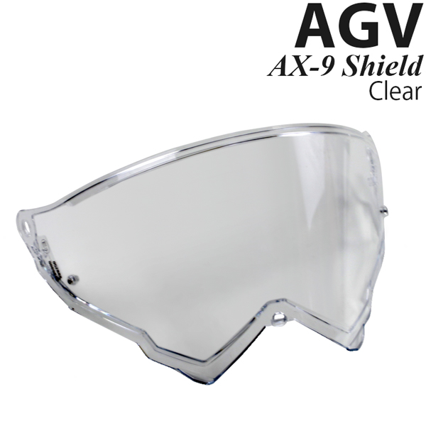 AGV AX-9 ヘルメット用 ピンロック対応 シールド AX-9 Clear