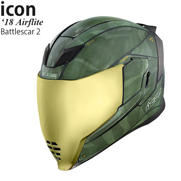 Icon ヘルメット Airflite 18-19年 現行モデル Battlescar 2