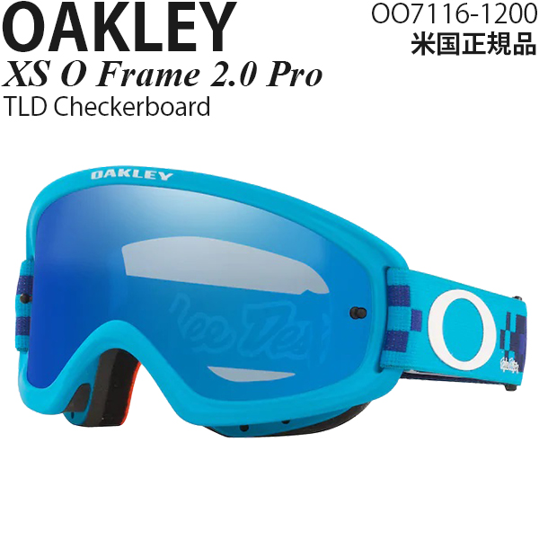 Oakley MX ゴーグル 子供用 XS O Frame 2.0 Pro TLD Checkerboard OO7116-1200