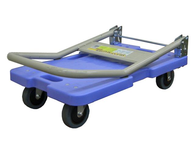 折りたたみ樹脂静音台車(特小) 小型で軽量 積載荷重120kg サイレントマスターLSK-201【送料無料/代引不可】
