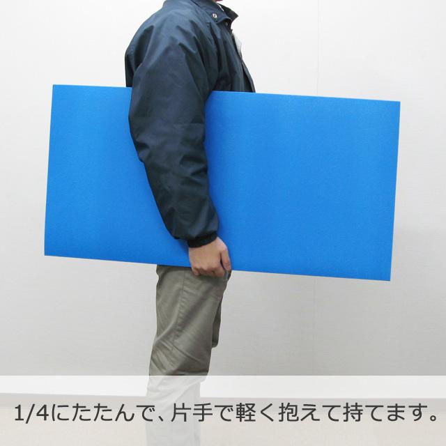 【10箱以上特価】1.5×900×1800[低発泡]たたんで抱えて運べる青ベニヤ(低発泡)【送料無料/代引不可】(5枚/箱)
