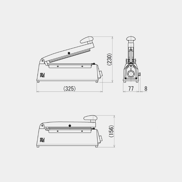 ワンランク上の卓上シーラー 溶断タイプ NL-202JR(200)全2色【送料無料/代引不可】