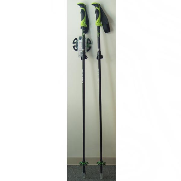 18-19 キザキ スキーポール(ストック) パウダーTL KPAH-9091 ブラック 105〜125cm
