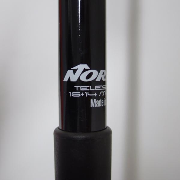 ノルディカ TELESCOPE 伸縮スキーストック レッド/ブラック 105〜125cm