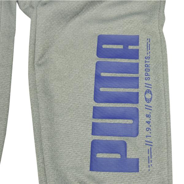 プーマ(PUMA)ジュニア用 トレーニングウエア上下セット 843881&843882 グレー/ブルー 140〜160サイズ