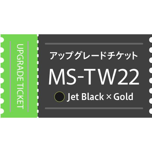 【アップグレードチケット】MS-TW22BG(Jet Black×Gold)