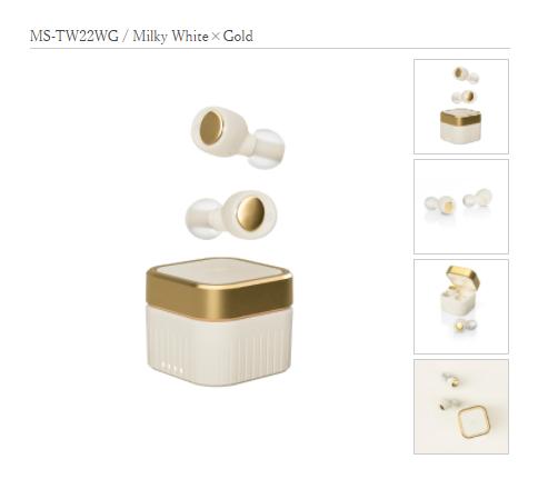 【M-SOUNDS再生品】 MS-TW22WG Milky White×Gold(ミルキーホワイト×ゴールド)