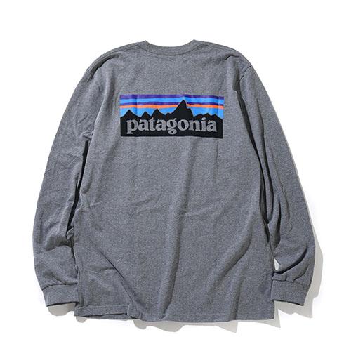 patagonia<br>Ms L/S P-6 Logo Responsibili-Tee  【39161】<br>パタゴニア メンズ ロングスリーブ P-6ロゴ レスポンシビリティー