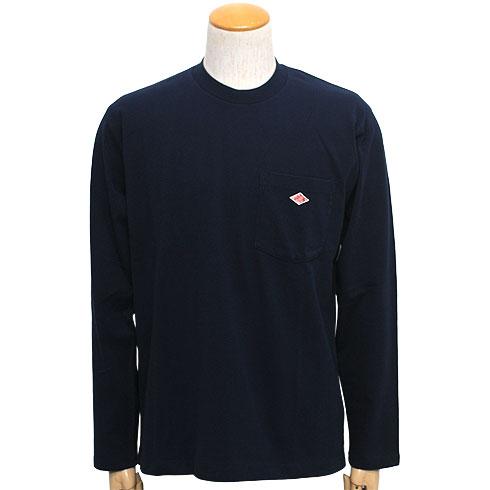 DANTON<br>【ダントン】<br>長袖クルーネックポケットTシャツ (メンズ・レディース)<br>【JD-9077】