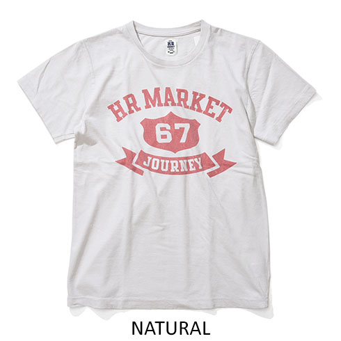 HOLLYWOOD RANCH MARKET<br>カレッジリボン HR MARKET Tシャツ  【700081143】<br>ハリウッド ランチ マーケット