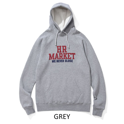 HOLLYWOOD RANCH MARKET<br>HR MARKET カレッジ スウェットプルパーカ  【700084021】<br>ハリウッド ランチ マーケット