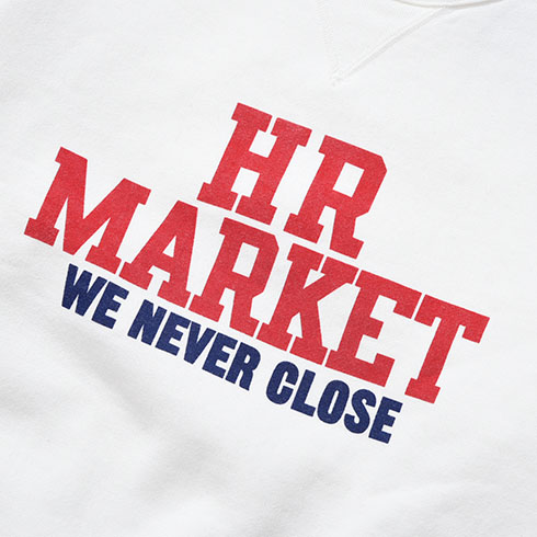 HOLLYWOOD RANCH MARKET<br>HR MARKET カレッジ スウェット クルーネック  【700084022】<br>ハリウッド ランチ マーケット
