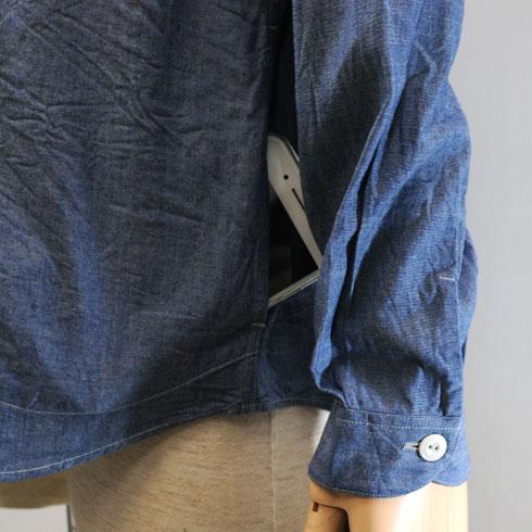 DANTON<br>【ダントン】<br>シャンブレー バンドカラーシャツ Men's<BR>【JD-3607 COC】