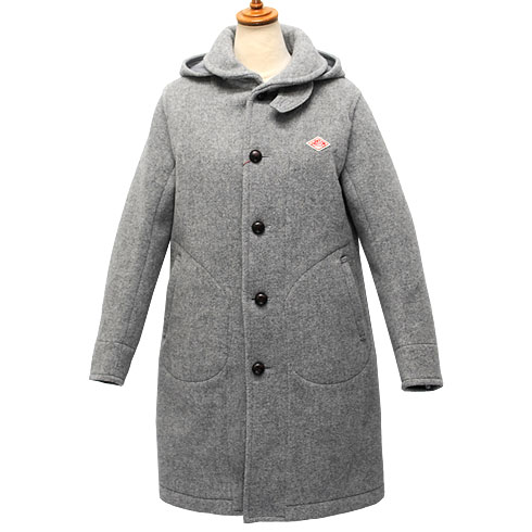 【30%OFF】 DANTON<br>【ダントン】<br>ウールモッサ シングルフードコート Lady's<BR>【JD-8457 WOM】