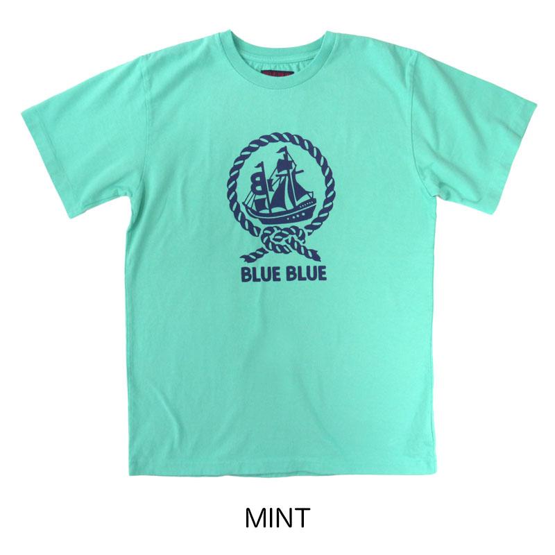 BLUE BLUE<br>シップアンドロープ BLUE BLUE Tシャツ  【700085563】<br>ブルーブルー