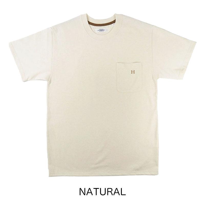 HOLLYWOOD RANCH MARKET<br>Hエンブロイダリー ポケットショートスリーブ Tシャツ  【700082658】<br>ハリウッド ランチ マーケット