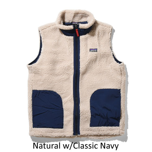 patagonia<br>Ks Classic Retro-X Vest 【65619】<br>パタゴニア キッズ クラシック レトロX ベスト