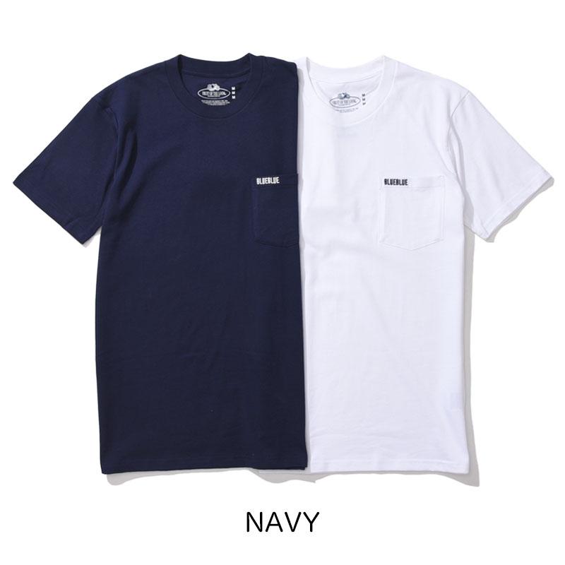 BLUE BLUE・FRUIT OF THE LOOM<br>2パック ポケットTシャツ  【700079868】<br>ブルーブルー