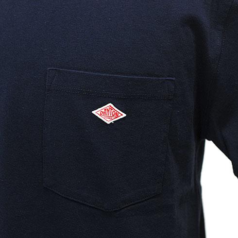 【10%OFF】 DANTON<br>【ダントン】<br>半袖クルーネック ポケットTシャツ (メンズ・レディース)<br>【JD-9041】