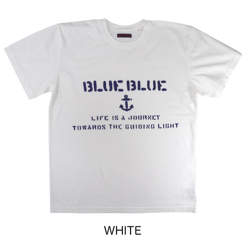 BLUE BLUE<br>ステンシル BLUE BLUE Tシャツ  【700086449】<br>ブルーブルー
