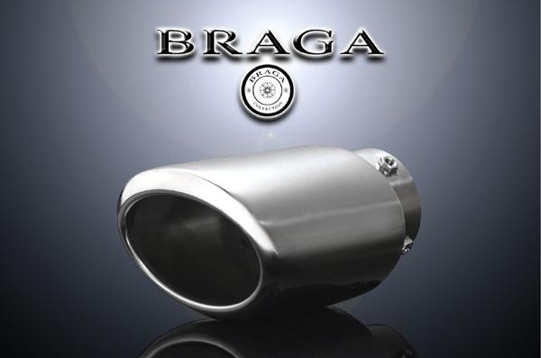 BRAGA(ブラガ) プレミアムマフラーカッタータイプ1◎ACR/MCR30・40系エスティマ適合◎1本価格◎【エムトラ】