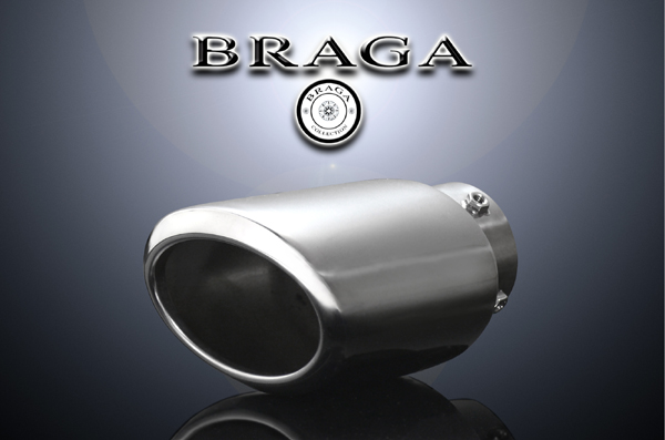 BRAGA(ブラガ) プレミアムマフラーカッタータイプ1◎100系ハイエース適合◎1本セット価格◎【エムトラ】