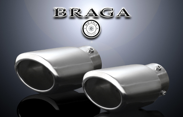 BRAGA(ブラガ) プレミアムマフラーカッタータイプ1◎レクサスGS350/GS430/GS450適合◎2本セット価格◎【エムトラ】