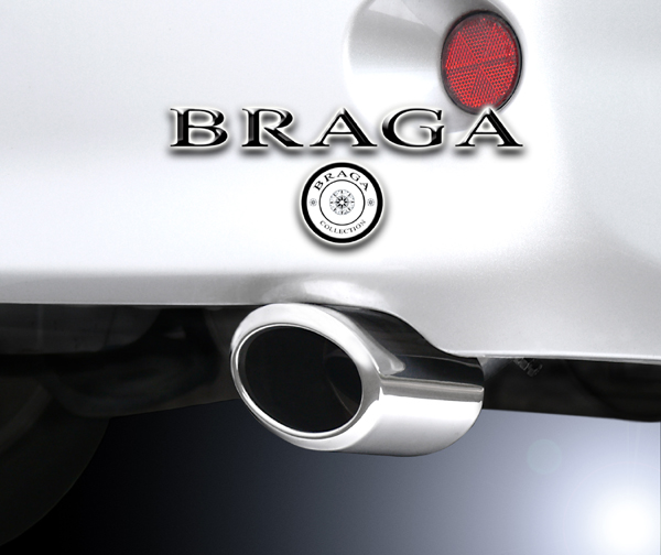 BRAGA(ブラガ) プレミアムマフラーカッタータイプ2◎ヴォクシー60/65/70/75系適合◎1本価格◎【エムトラ】