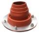 薪ストーブ テント用フラッシングキット フラットタイプ 煙突径:45〜85mm