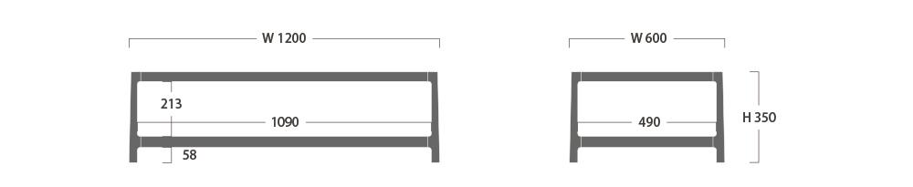 SORAHE LOW TABLE 120D60